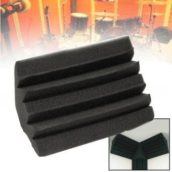Small Bass Trap Acoustic Foam Black Soundproof Foam Studio Foam -intl