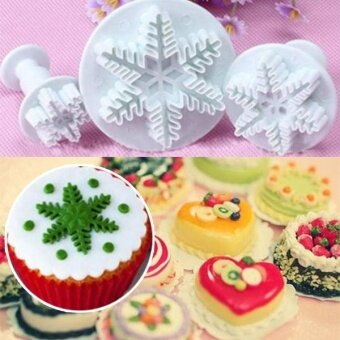 ... Snowflake Cake Mold Mould Baking Fondant Candy Biscuit Cookies Christmas Cutters - intl - 5