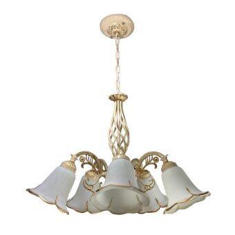 โคมไฟแขวนเพดานสวยงาม โคมไฟช่อ รุ่น SP671 (สีขาว) ไม่รวมหลอดไฟ
