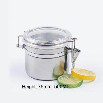 Stainless Steel Airtight Sealed Canister Coffee Flour Sugar TeaContainer Holder size:7.5cm - intl