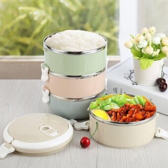 Stainless Steel Food Storage Container 1 layers Lunch Box Spoon Carrier - intl