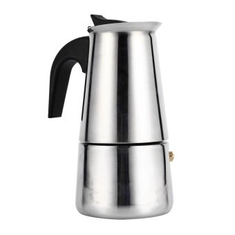 Harga Stainless Steel Percolator Moka Pot Espresso Coffee Maker Stove Home Office Use (200ml) - intl