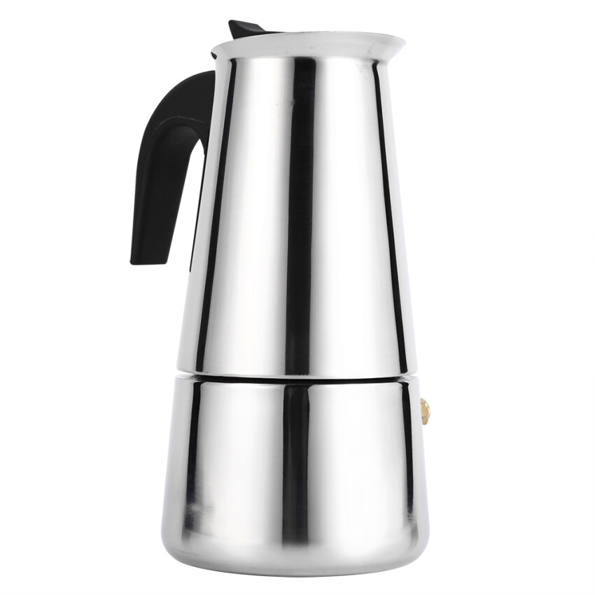 Stainless Steel Percolator Moka Pot Espresso Coffee Maker Stove Home Office Use (300ml) - intl