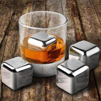 Stainless Steel Red Wine Whisky Ice Grain Cube Stone - intl