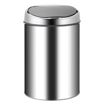 Stainless Steel Smart Sensor Trash Bin Wireless Induction USBCharge(Silver)-4L - intl