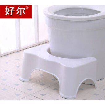 Super Healthy Squatty Bathroom Toilet Stool White - intl
