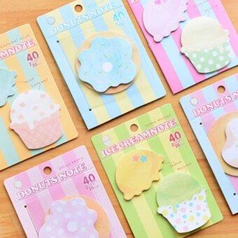 Sweet Dessert Icecream Cupcake Sticker Memo Marker Bookmark Index Sticky Notes - intl