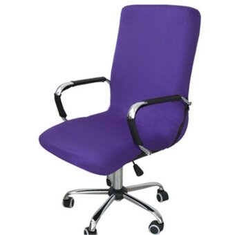 Swivel Computer Chair Cover Stretch Office Armchair Protector Seat Decoration(Chair Is Not Included) - intl