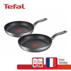 Tefal กระทะแบน รุ่น Hard Titanium Plus Frypan 21 ซม.+ 28 ซม. C6929072