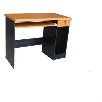 รีวิวพันทิป TGCF โต๊ะทำงาน 100E ซม. สีเชอร์รี่/ดำ