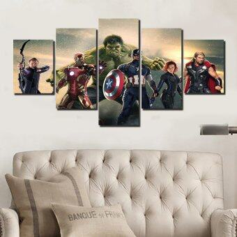 Harga The Avengers Movie Group Painting On Canvas Room Decoration PrintPoster Picture Canvas(No Frame)