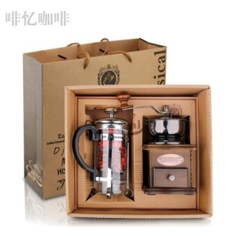 The Grinder Press Coffee Gift Set Manual Coffee Grinder Gift Box