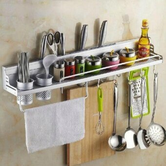The Space Aluminum Kitchen Wall Has A 60Cm Storage Rack (With AFence) (Intl). - intl