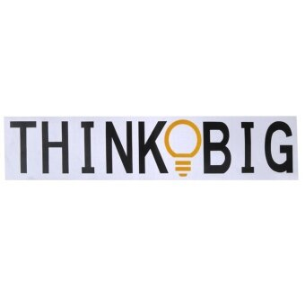 Think Big Wall Stickers Removable Vinyl Home Bedroom BackgroundWall Decor - intl