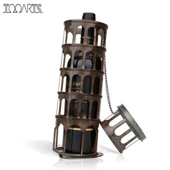 Tooarts Metal Tower Wine Rack Classical Bottle Holder Kitchen Bar Display Iron Wine Holder Home Decoration Accessories - intl