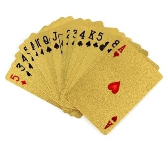 Topsellers365 New 24K Karat Gold Foil Plated EUR Poker Playing CardWith Box - intl