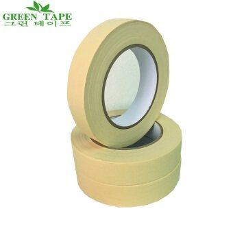 TPS Green Tape เทปกระดาษกาวย่น MASKING TAPE รุ่นทนความร้อน ขนาด 1นิ้ว X 50 เมตร แพ็ค 3 ม้วน