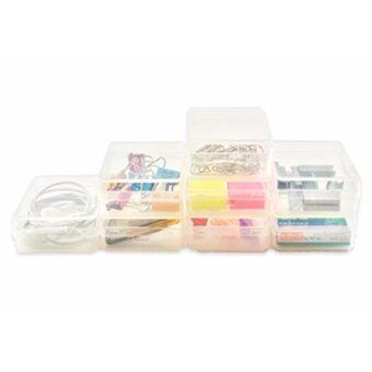 UDEE กล่องพลาสติกเล็กอเนกประสงค์ P8-ใส (เซต 2 แพค)