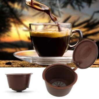 UINN 3 Pcs/Set Reusable Capsule Cup Coffee Filter Baskets Kitchen Cups Tool Brown - intl