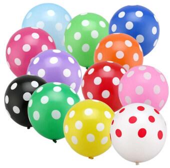 Universe Balloon - ลูกโป่งสกรีนลายจุด คละสี (20 ใบ)