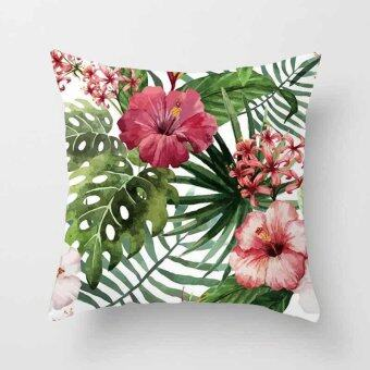 Vintage Flower Tropical Leaves Pillow Case Cushion Cover Home Decor#12 - intl