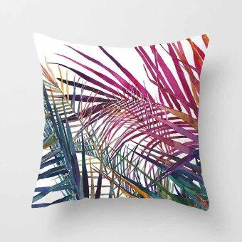 Vintage Flower Tropical Leaves Pillow Case Cushion Cover Home Decor#13 - intl