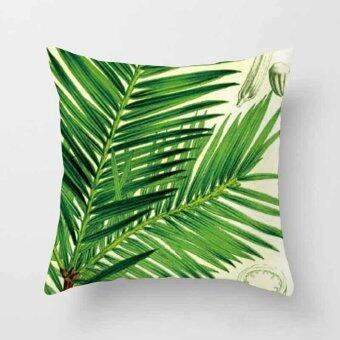 Vintage Flower Tropical Leaves Pillow Case Cushion Cover Home Decor#2 - intl