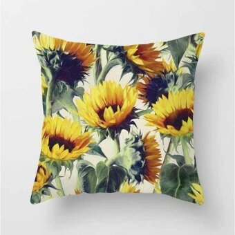 Vintage Flower Tropical Leaves Pillow Case Cushion Cover Home Decor#21 - intl