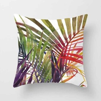 Vintage Flower Tropical Leaves Pillow Case Cushion Cover Home Decor#24 - intl