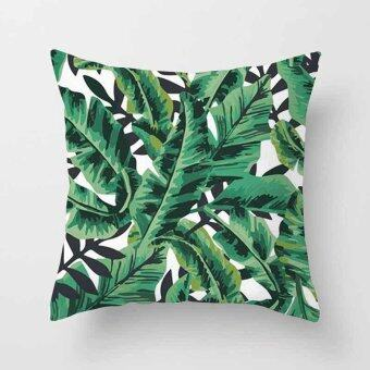 Vintage Flower Tropical Leaves Pillow Case Cushion Cover Home Decor\n#3 - intl