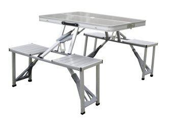 VRF ชุดโต๊ะปิคนิคอลูมเินียมเก้าอี้ติด