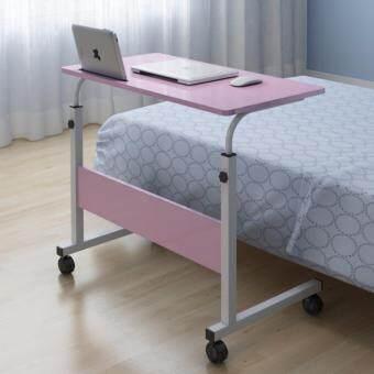 VV โต๊ะวางโน๊ตบุค คอมพิวเตอร์ รุ่นปรับระดับได้ ขนาด 80 CM.สีชมพู