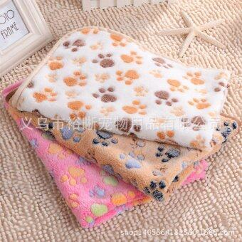 Harga Warm Pet Mat Paw Print Cat Dog Puppy Fleece Soft Blanket BedCushion Pink XS