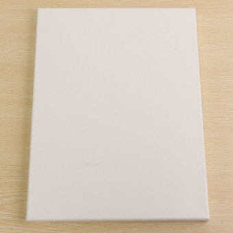 White Blank Square Canvas Board Wooden Frame For Art Artist Oil Acrylic Paints 30x40cm - Intl