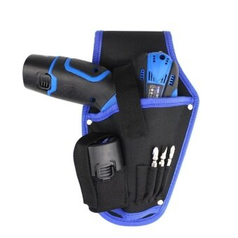 Whyus-Portable Canvas Electrician Drill Tool Kit Holder WaistOrganizer Storage Bag (Blue) - intl