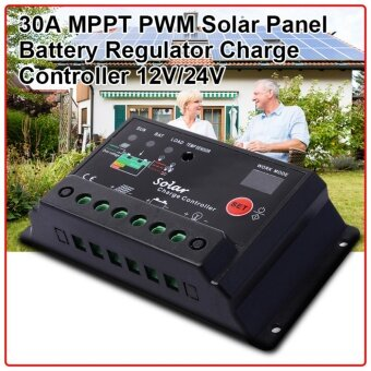 XCSource คอนโทรลเลอร์ 30A 12V/24V PWM Solar Panel Battery RegulatorCharge Controller