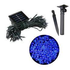 XML-Solar ไฟกระพริบโซล่าเซลล์ 100 LED เเสง : ฟ้า