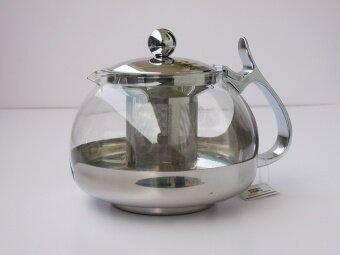 YAVON 700ml อุณหภูมิสูงทนความร้อนแก้วกาน้ำชาสแตนเลส Tai Chi หม้อ