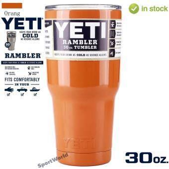 YETI Rambler แก้วเก็บความเย็น เก็บน้ำแข็งได้นาน 24ชั่วโมง - สีส้ม