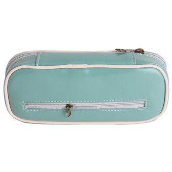 Yingwei High Quality Leather Pencil Box Zipper Pen Bags BigCapacity Green - 2 ...