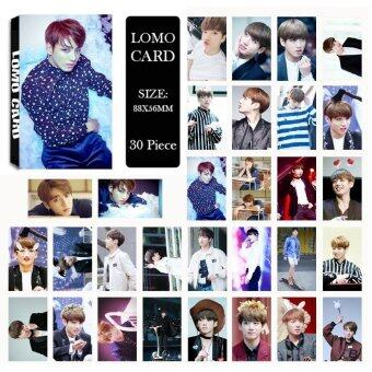 Youpop KPOP BTS Bangtan Boys WINGS JUNGKOOK Photo Album LOMO CardsSelf Made Paper Card HD Photocard LK428 - intl