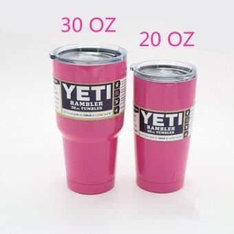 YY 304 Stainless Steel 20 Oz/30 Oz Yeti Cups Vehicle Beer MugDouble Wall Bilayer Vacuum Insulated(30 Oz) - intl