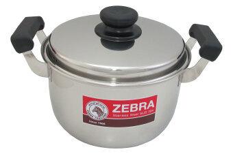 Zebra หม้อหุงต้ม 28 ซม. ตราหัวม้าลาย รุ่น Classic - สีเงิน