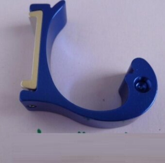 ZH Four creative space aluminum color dolphin type hanger hook(blue) - intl