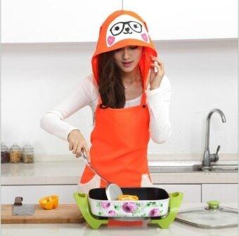 ZH kitchen dustproof anti-oil creative household hooded apron(orange) - intl