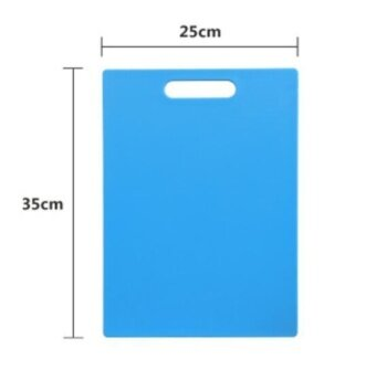 ZH plastic extra thick rectangle non-toxic kitchen cutting board(blue) - intl