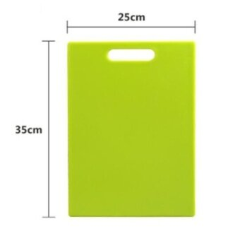 ZH plastic extra thick rectangle non-toxic kitchen cutting board(green) - intl