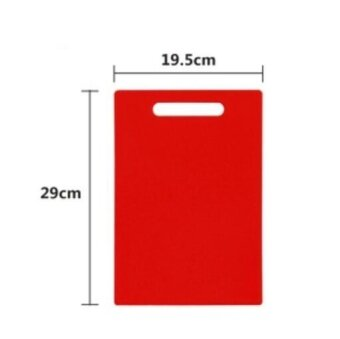 ZH plastic extra thick rectangle non-toxic kitchen cutting board(red) - intl