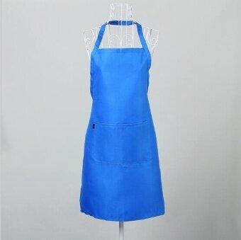 ZH women's stylish breathable kitchen apron(blue) - intl