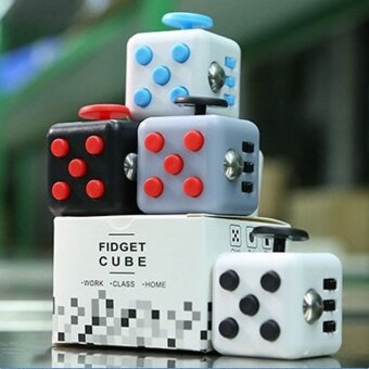 10 pcs Kfidget cube  pressure  anxiety artifact  decompression cube  decompression dice  creative gifts spot1# gray red - intl